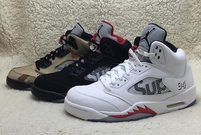 best sneakers 34590 90bf8 Supreme x Air Jordan 5