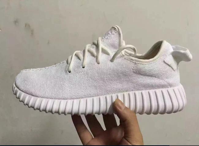 White adidas Yeezy 350 Boost