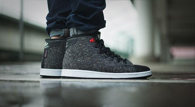 adidas Stan Smith Winter Mid Core Black