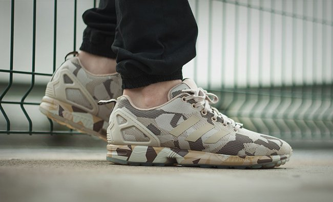 innovative design 22ddd 2d247 adidas ZX Flux Camo Brown Hemp