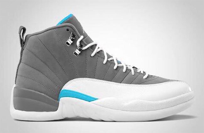 Air Jordan 12 Grey White Blue 2016
