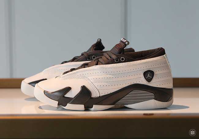 Air Jordan 14 Low Girls White Phantom Pewter Dark Storm