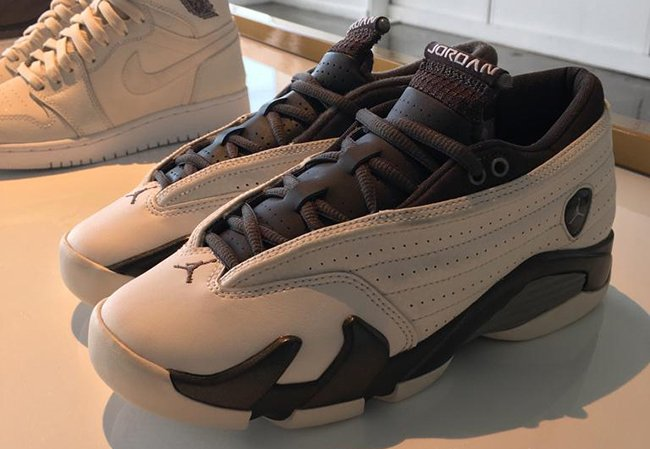 Air Jordan 14 Low GS White Phantom Pewter Dark Storm