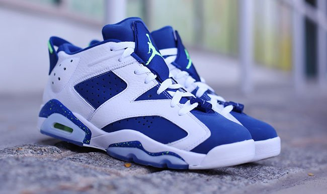 Air Jordan 6 Low Ghost Green Insignia Blue