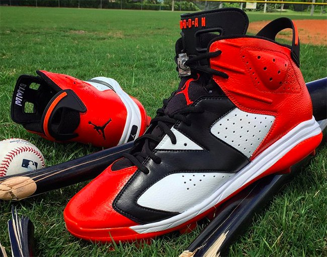 b7cacee2ad14 Air Jordan 6 Shattered Bats Custom Manny Machado
