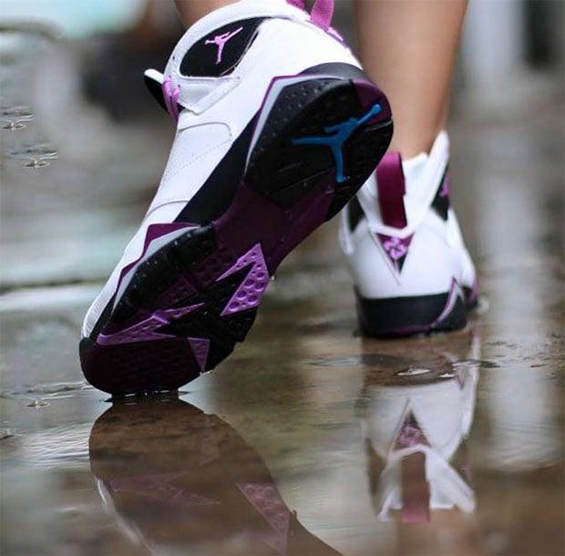 jordan 7 on feet