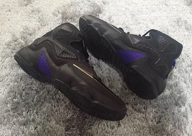 1cf5ee772d8cd Nike LeBron 13 Black Purple Gold