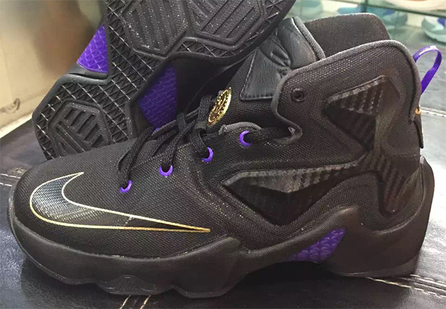 3192fa207863ab Nike LeBron 13 Black Purple Gold