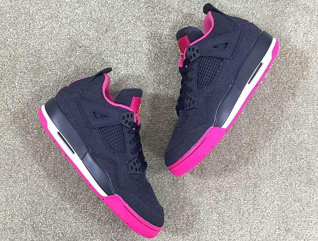 Denim Air Jordan 4 GS Girls 2016