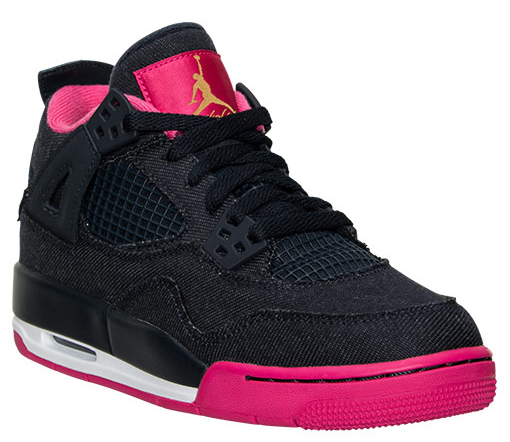 Denim Air Jordan 4 GS Pink