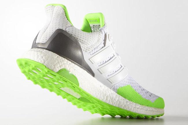 kolor adidas Ultra Boost White Solar Green