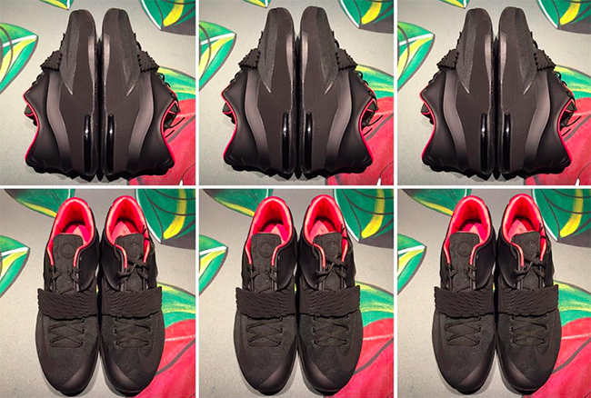 7dba87af404c7d Nike KD 7 Black Aunt Pearl Sample