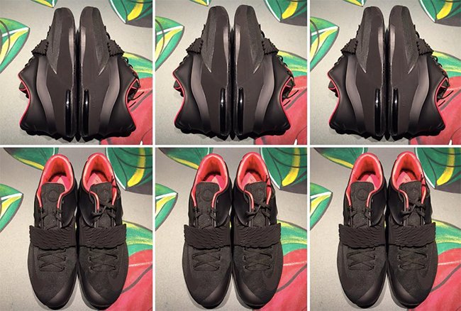 Matte Black Nike KD 7 Aunt Pearl