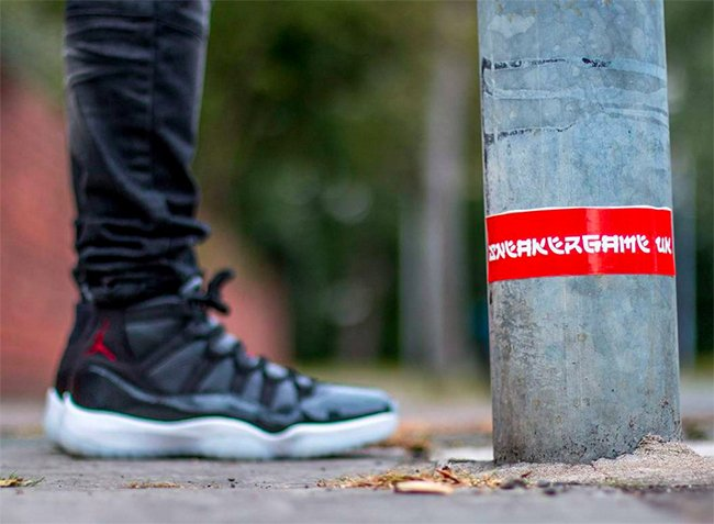 Air Jordan 11 72 10 On Foot