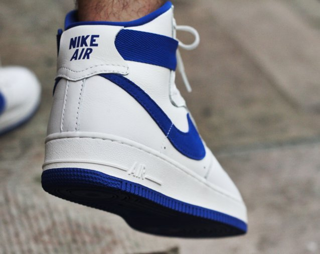 nike air force 1 high og white blue sneakerfiles