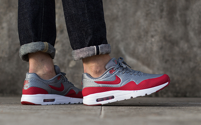 Nike Air Max 1 Ultra Moire Metallic Cool Grey Gym Red