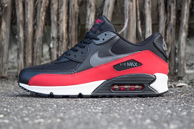 54205b694639 Nike Air Max 90 Black Grey Red