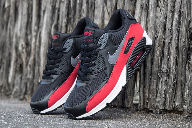 nike air max 90 black grey red