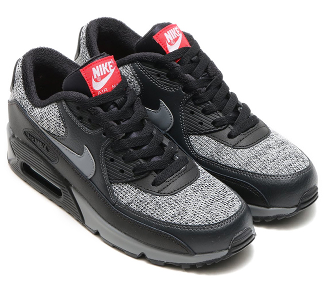 c8ffe7c74eae Nike Air Max 90 Essential Black Grey Red