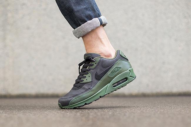 Nike Air Max 90 Verde De Invierno De Carbono De Alta Calidad / Guijarros Negros 05Z7FC5N