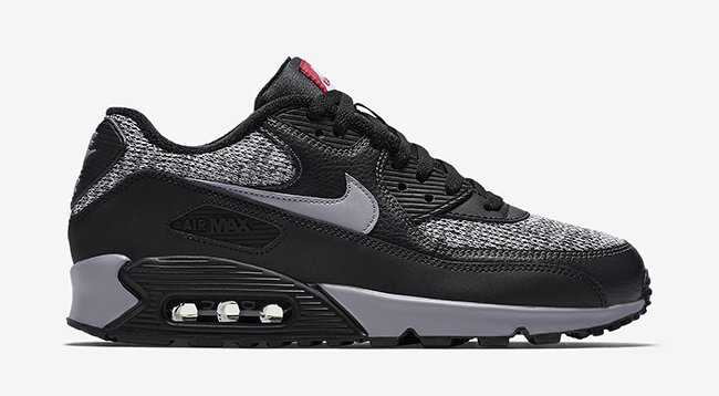 Nike Air Max 90 Essential Winter Black Grey Red