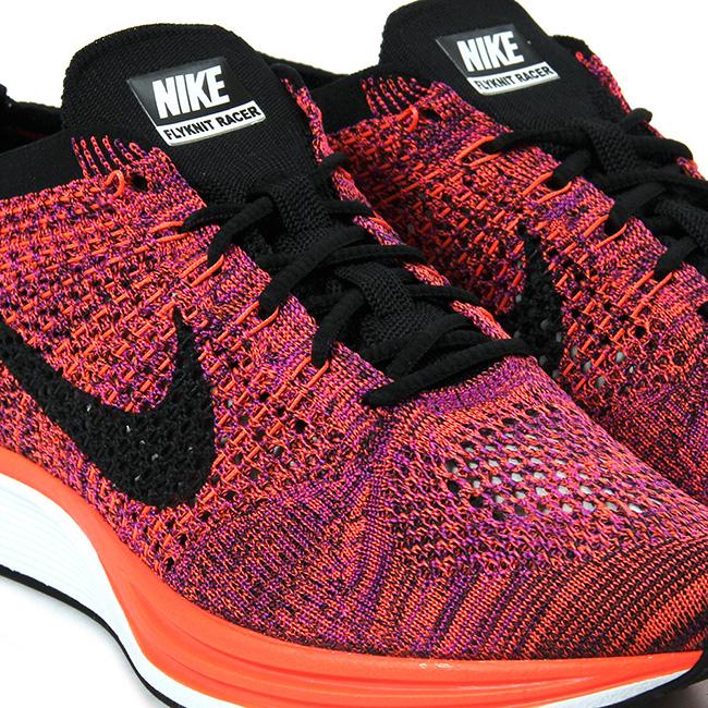 Nike Flyknit Racer Hyper Orange Vivid Purple