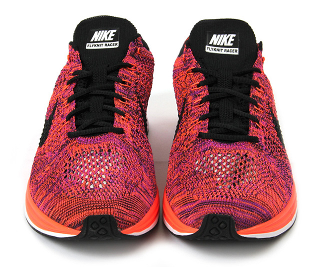 Nike Flyknit Racer Hyper Orange Vivid Purple
