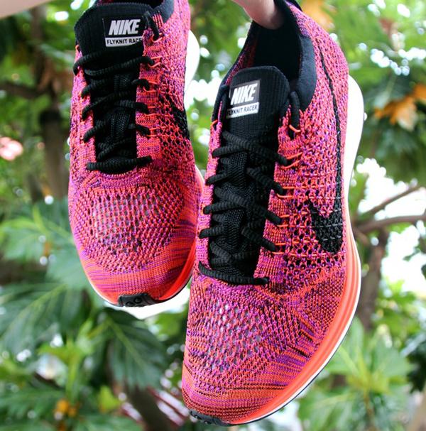 Nike Flyknit Racer Purple Orange Pink