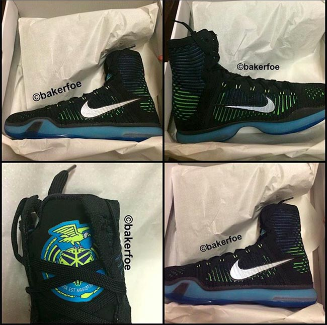 Nike Kobe 10 Elite High Black Volt Blue