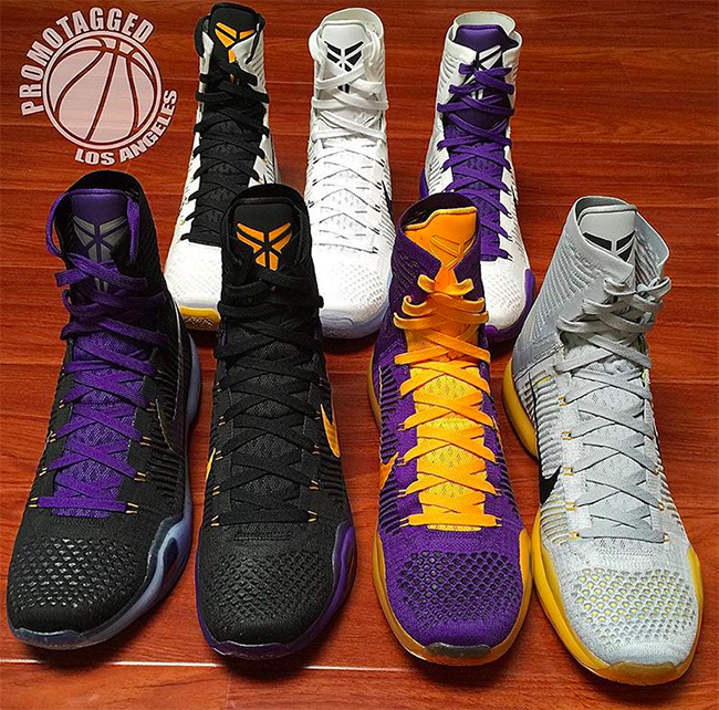 Nike Kobe 10 Elite Lakers PE Collection
