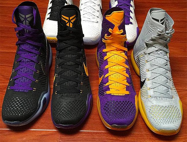 new products 82197 5fed5 Nike Kobe 10 Elite Lakers PE Collection