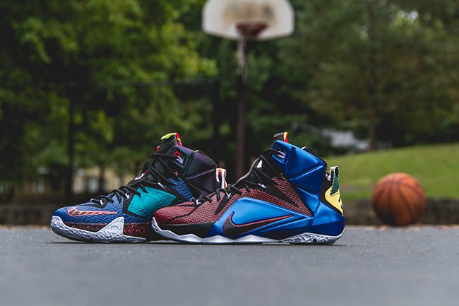 newest 90edf da447 Nike LeBron 12 What The Releasing
