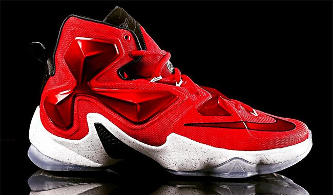Nike LeBron 13 Away Cavs Red On Court | SneakerFiles