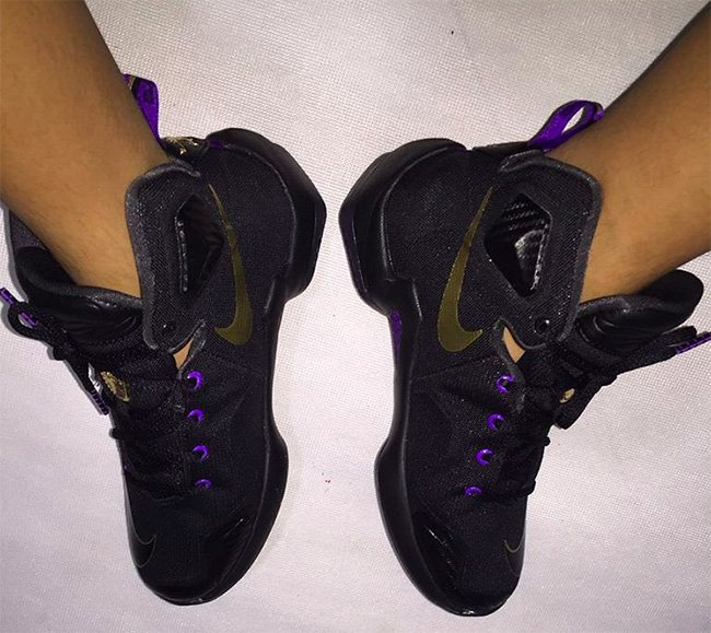 Nike LeBron 13 Black Purple On Feet