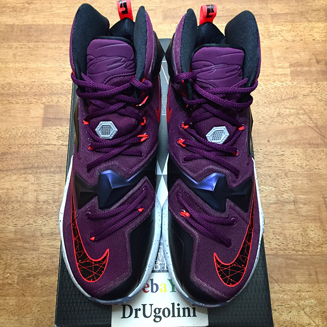 ce0b14c46309 Nike LeBron 13 Mulberry Release Date