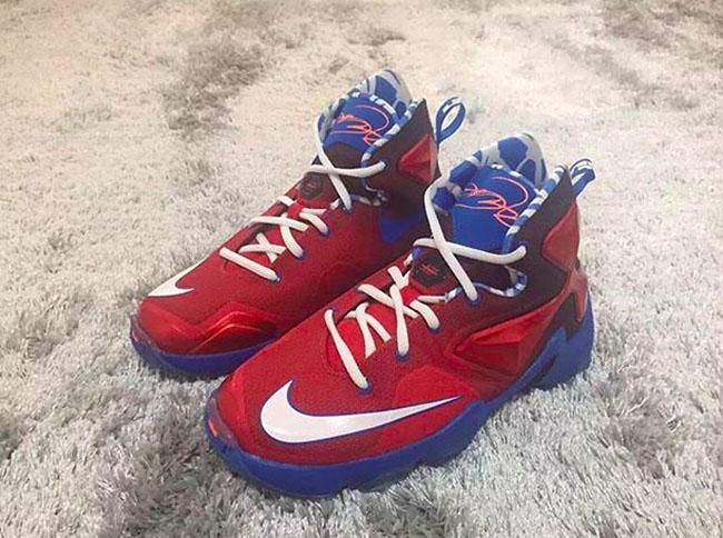 Nike LeBron 13 Red Blue White