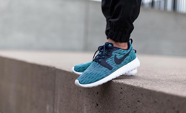 Nike Roshe One Jacquard Navy Aqua