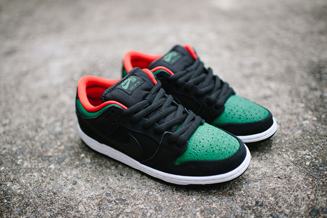 Nike SB Dunk Low Black George Green