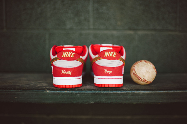 another chance 00598 bdc4f Nike SB Dunk Low Nasty Boys Cincinnati Reds | SneakerFiles