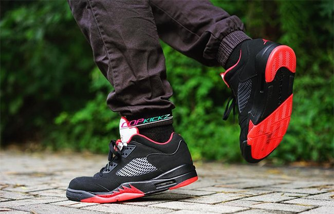 promo code 5ce78 415e3 Air Jordan 5 Low Alternate 90 On Feet
