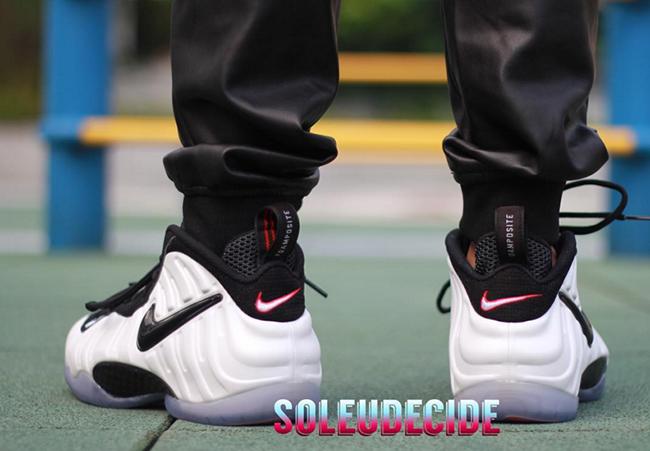 On Foot Nike Foamposite Pro Pearl He Got Game