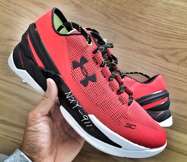 Under Armour Curry 2 Low Red Black White