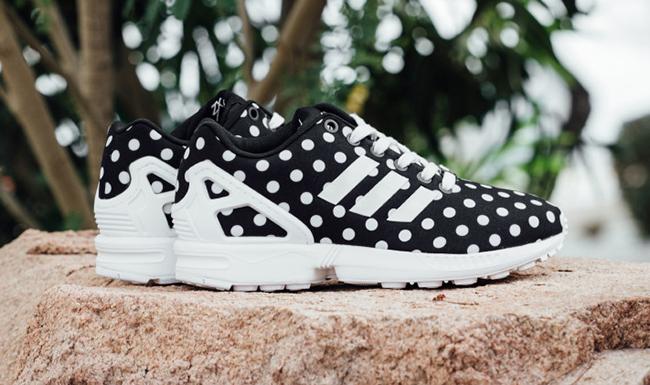 adidas ZX Flux Polka Dot Black White
