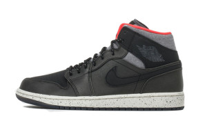Air Jordan 1 Mid Winterized Black Grey Infrared