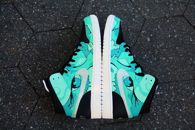 Air Jordan 1 Tiffany Gone Wild Custom
