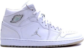 Air Jordan 1 White Metallic Silver 2002 Release Date