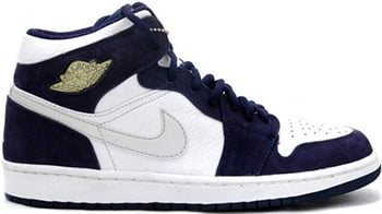 Air Jordan 1 White Silver Midnight Navy 2001 Release Date
