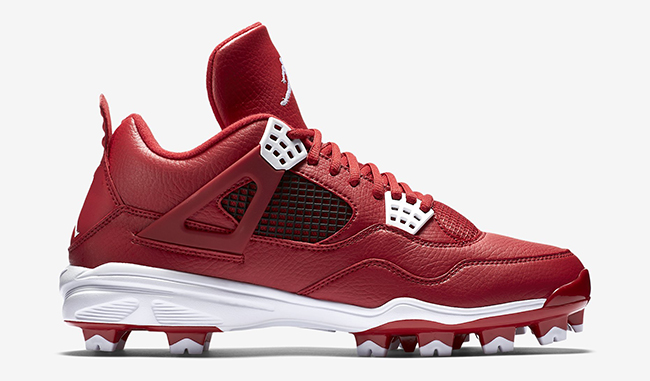 Air Jordan 4 Cleats Gym Red White
