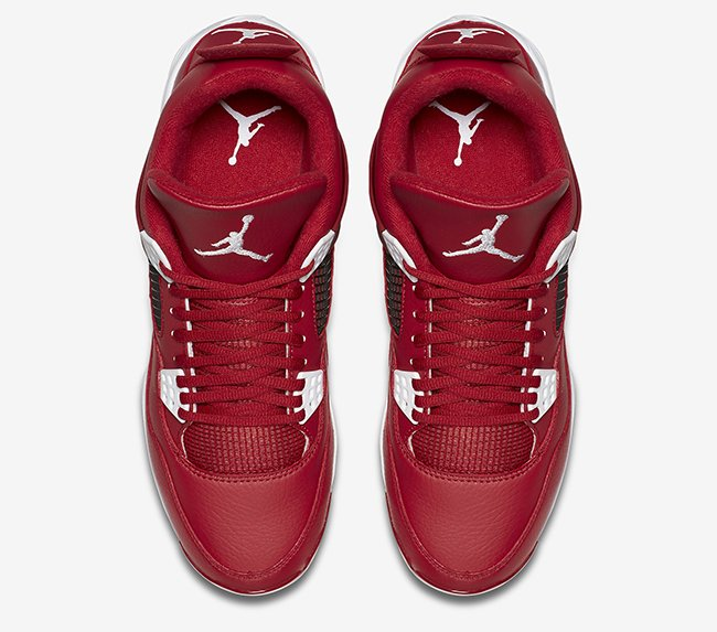 Air Jordan 4 Cleats Gym Red White
