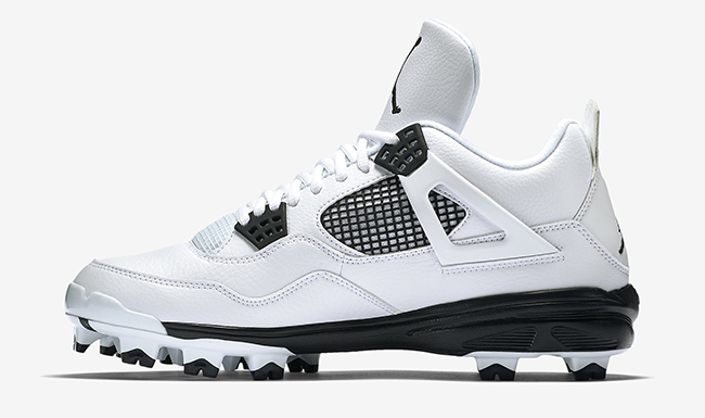 Air Jordan 4 Cleats White Black